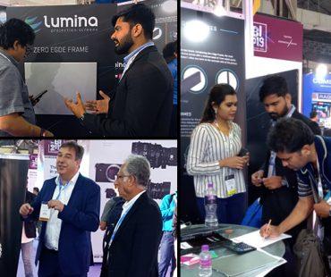 LUMINA screens at Broad cast India Show