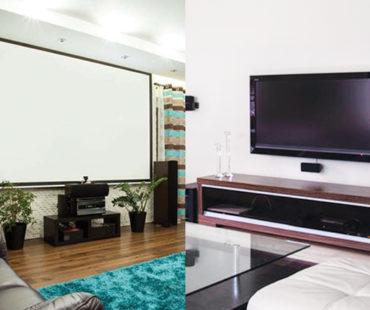 Projector screen vs T.V